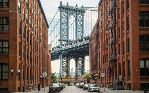 Empire State Building, Manhattan Bridge and Dumbo